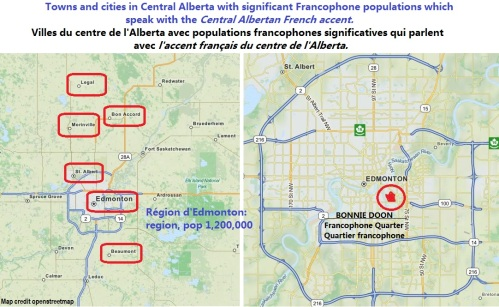 Central Alberta accents French français
