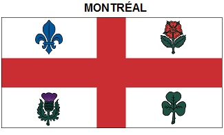 Montréal's official flag - most closely associated with the Montréal-East-End accent.