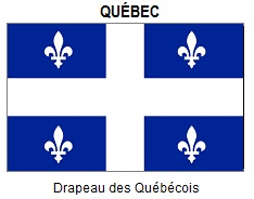 Official flag of Québec.
