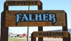 Falher, in NW Alberta's Francophone region; close to where I lived for a few years as a child and where I used to play hockey.