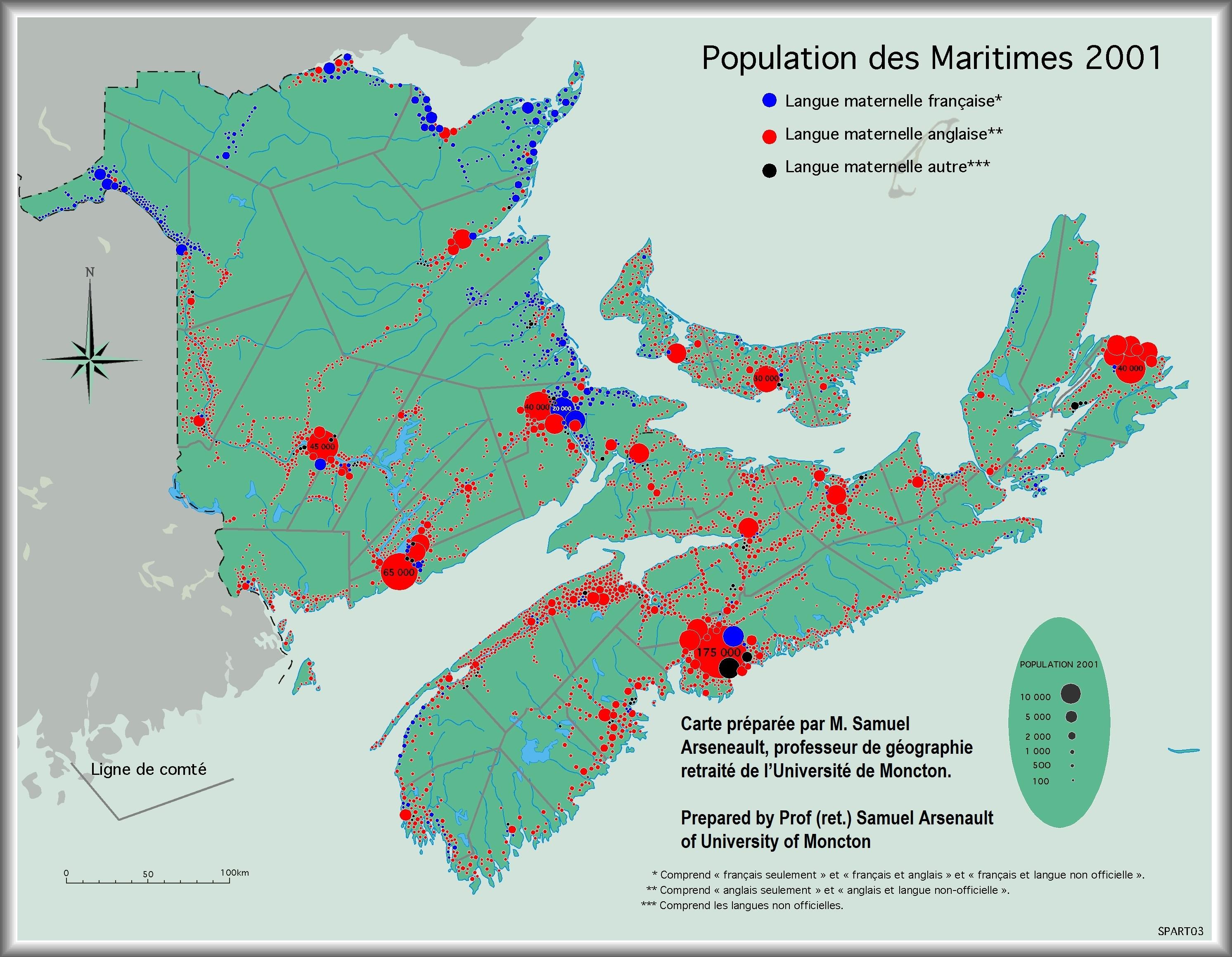 Maritime population  community distribution based on language