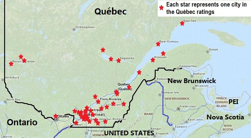 Qubecs worst cities  Quebec Culture Blog