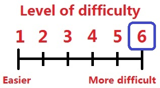 Difficulty levels 6